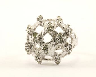 Vintage Stylish CZ Ring 925 Sterling RG 2763