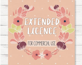 Extended license / commercial use