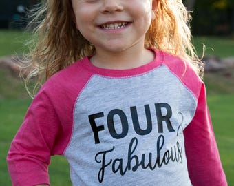 4th birthday baseball raglan outfit, fourth baseball outfit, four year old girl shirt and denim tutu