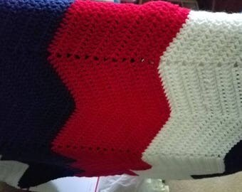 Red white and blue blanket