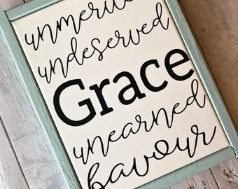 Grace / Grace Wins / Grace Upon Grace / Favor / Favour / Grace Changes Everything