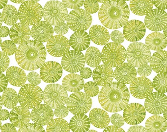 Mermaid Days - Urchin Garden Green by Cori Dantini for Blend Fabrics - 1 yd