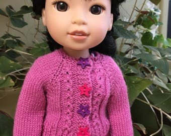 Pink Wellie Wisher Cabled Sweater