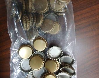 "BULK 115 Bottle Caps for Crafting, standard size 1"""