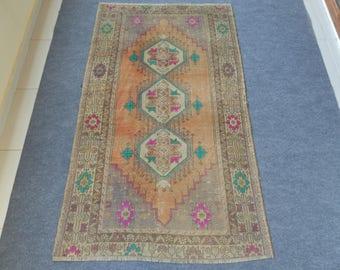 Vintage Oushak Rug, Vintage Turkish Rug, Pastel Color Rug, Vintage Rug, Boho Rug, Oushak Rug, Handmade Rug 3.6x6.1 ft