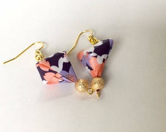 Origami pyramid earrings