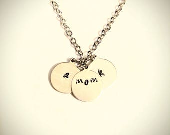 Personalized Stamped Sterling Silver Necklace