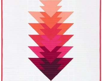 set of 6 Kona solid quilt pink and Red ARROWHEAD fabric coupon