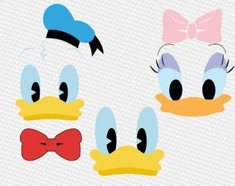 Duck boy girl face SVG Clipart Cut Files Silhouette Cameo Svg for Cricut and Vinyl File cutting Digital cuts file DXF Png Pdf Eps vector