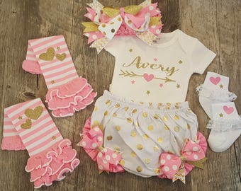 New Baby, Infant, Baby Girl, Newborn, Onesie, Onesie Set, Baby Shower, Coming Home Outfit
