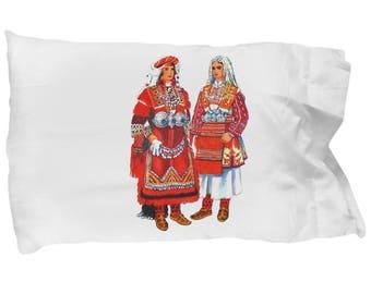 Macedonian Folk Costumes - Pillow Case