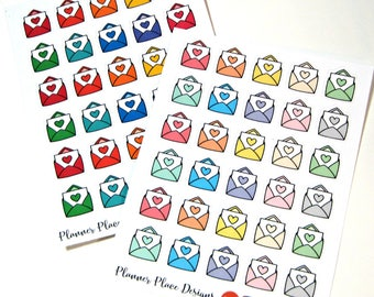 Happy Mail Stickers - Envelope Stickers - Planner Stickers - Erin Condren Stickers - Happy Planner Stickers - Functional Stickers - Bujo TN
