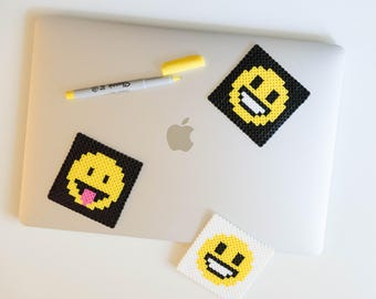 Smiley Emoji Coasters - Perler Beads