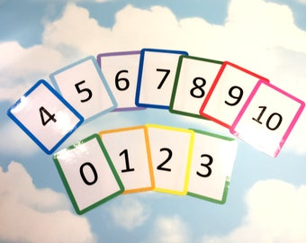 Number flashcards 0-10, Nursery, EYFS, Teaching resource, Educational toy, Number cards, Visual learners, counting