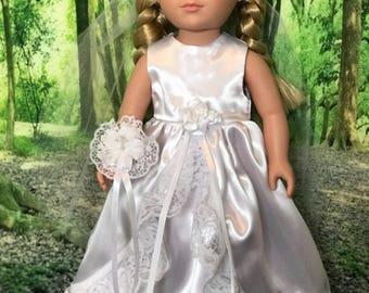 """Bride set for 18"""" doll"""