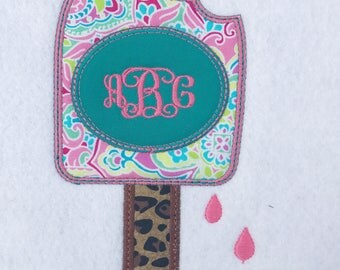 Monogrammed Popsicle Shirt - Personalized Summer Shirt