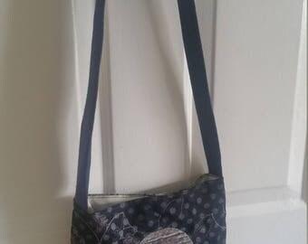 Navy Blue Swirl Crossbody Handbag