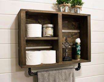rustic bathroom wall cabinets toilet cabinet etsy 20281