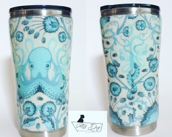 Custom order - fabric tumbler - stainless steel tumbler - 20 ounce - you choose fabric - gifts for her
