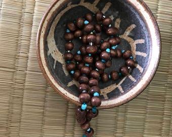 Handmade small pottery dish