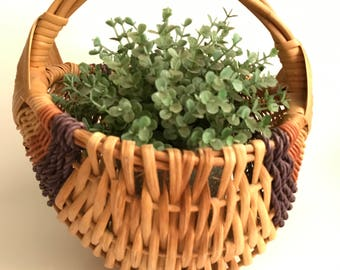 Beautiful vintage hand woven basket