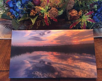 Lowcountry Sunset (Photograph on Canvas - 8x14)