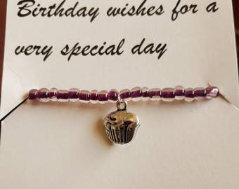 Birthday Wishes Charm Bracelet and Poem
