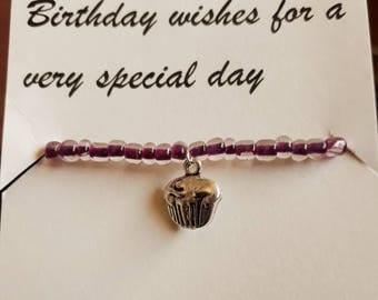 Birthday Wishes Charm Bracelet and Poem