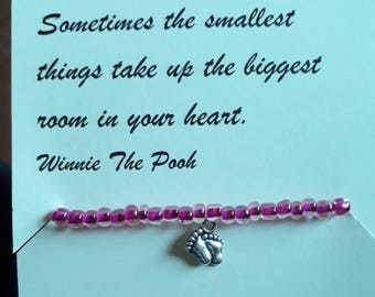 New born baby girl bracelet and poem for a new mum