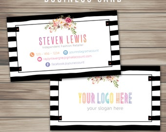 boho business card boho marketing kit fast free digital file template
