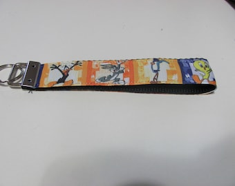 Cartoon Wristlet Key Fob Rabbit Coyote