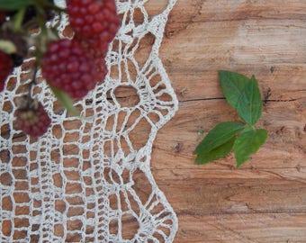 hemp knitted shawl, Crochet Shawl, 100% hemp,handmade shawl