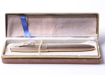 Rare Parker 51 9kt gold fountain pen special edition