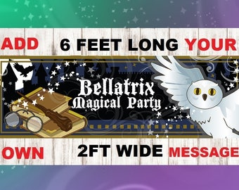 Wizard, Party Banner, party decoration, wizard wand, wizard hat, wizard party, wizard decoration, birthday party decorations, wizard, banner