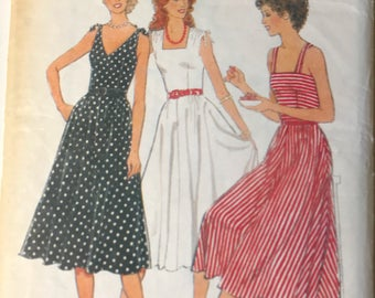 Vintage Simplicity 7906 80's Dress Sewing Pattern