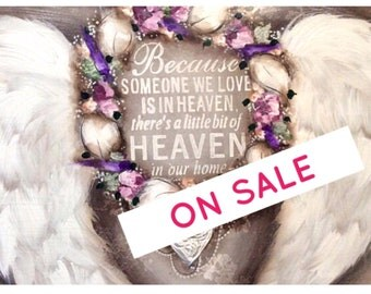 Hand painted. Postage included .Heavenly wings 900mm-600mm