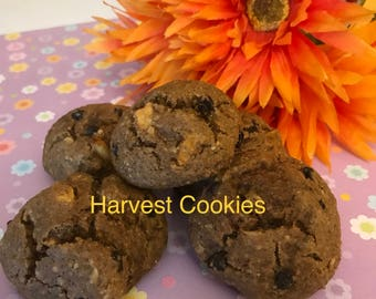 Harvest Cookies with apples, walnuts, oatmeal, brown sugar and banana (1 lb)GF