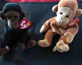 Ty Beanie baby Monkeys!