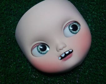 Ooak Icy Doll faceplate