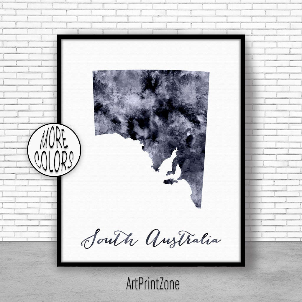 South australia art print home decor south australia map art wall prints wall art home wall Home decor wall decor australia