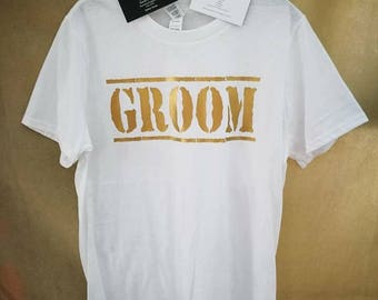 Hen/Stag Party T Shirts, Personalised T Shirt, Groom T Shirt, Bride T Shirt, Hen Party T Shirt