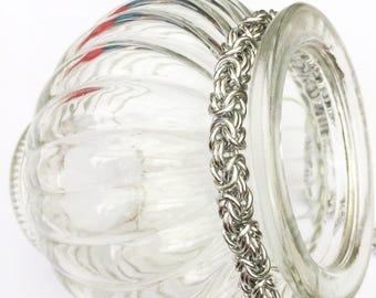 Chainmaille bracelet, silver bracelet, byzantine bracelet, bright silver bracelet, classic jewelry, silver chainmail,  Tessa's chainmail.