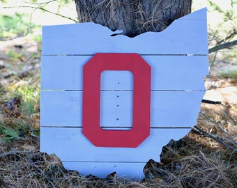 State of Ohio Wood Sign