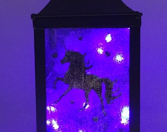 Unicorn LED Metal Lantern
