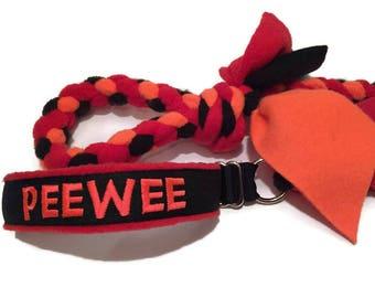 Custom agility fleece braided embroidered  all in one slip leash martingale collar