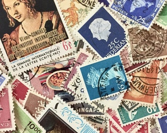 Vintage Worldwide Postage Stamps - Journals - Smashbook - Crafts