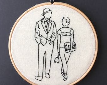 À bout de Soufflé // Breathless// Hand Embroidery Hoop // Jean-Luc Godard // For Film Fans // Wall Art