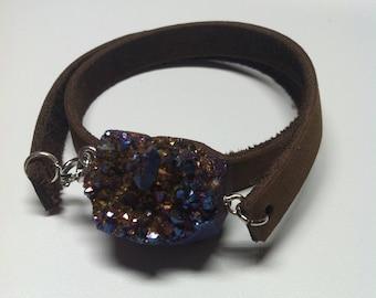 Drury leather wrap bracelet