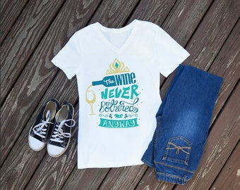 Wine Never Bothered Me Women's Shirts, Food and Wine Festival, Epcot, Custom Shirts