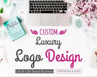 Luxury Logo Design, Ooak Logo, Custom Logo Design, Unique Logo, Hand Crafted Logo, Boutique Logo, 3 Logo Concepts